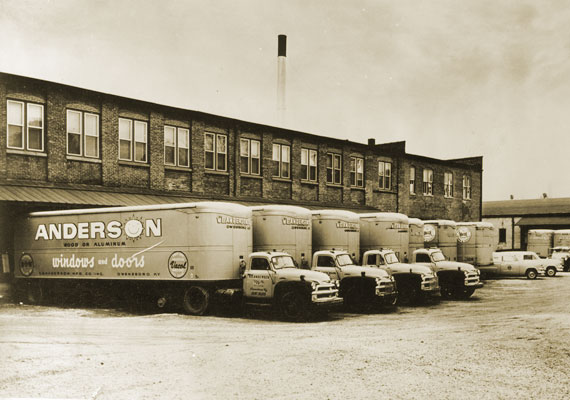 V.E. Anderson Factory Building and Truck Flee