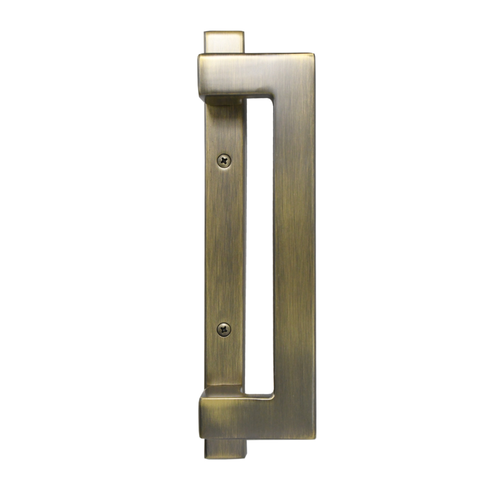 Sliding Door Contemporary Handle Set - Antique Brass